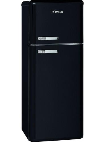 Bomann Doppeltür-Kühlschrank Retro DTR 353.1 schwarz / EEK: E / 208 Liter