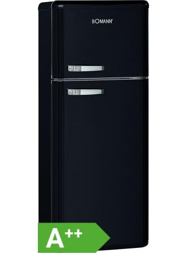 Bomann Doppeltür-Kühlschrank Retro DTR 353 schwarz / EEK: A++ / 208 Liter