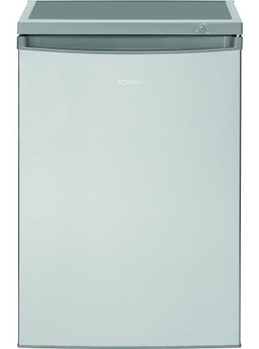 Bomann KS 2184.1 IX Kühlschrank mit Gefrierfach / EEK: E / 120 Liter / Edelstahloptik