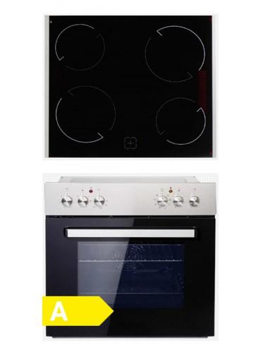 Einbauherd Set PKM BIC7 GK IX-4 / EEK:A / Edelstahl / Glaskeramik / 7 Funktionen