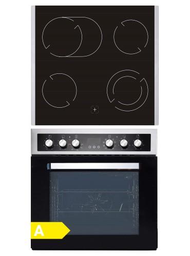 Einbauherd Set PKM BIC8 2KB GK IX-4 / EEK:A / EEK: A / Glaskeramik-Kochfeld / 72 Liter