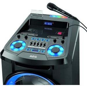 AEG EC 4836 Mobiles Musiksystem mit Bluetooth, Karaoke-Funktion inkl. Mikrofon