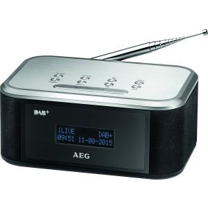 AEG MRC 4148 DAB+/UKW Stereo-Uhrenradio schwarz/silber