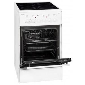 Exquisit ECM 5-4 Elektro Standherd / EEK: A / 4 Kochstellen / Glaskeramik / Weiß
