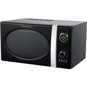 SCHNEIDER MW823G B Mikrowelle Retro / 800 W / Grill 1000 W / 23 L / Schwarz