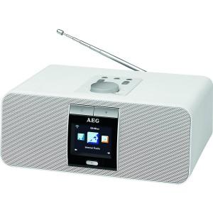 AEG IR 4468 BT weiß Internet-Stereoradio mit Bluetooth und Weckfunktion