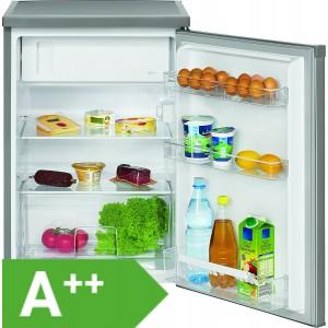 Bomann KS 2184 Kühlschrank mit Gefrierfach / EEK: A++ / 119 Liter / Edelstahloptik