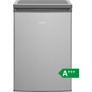 Bomann KS 2198 Kühlschrank mit Gefrierfach / EEK: A+++ / 109 Liter / Edelstahloptik