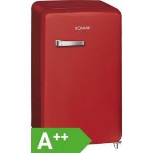 Bomann KSR 350 Retro-Kühlschrank / EEK: A++ / 121 Liter / Rot