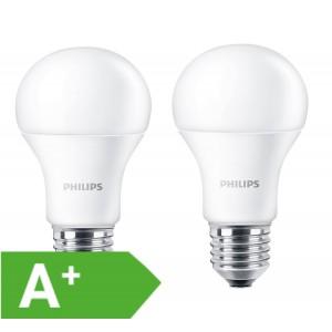 Philips LED Lampe Doppelpack, EEK A+, 9W, 806 Lumen, E27, warmweiß