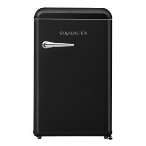 WOLKENSTEIN WKS125RT SB Retro - Kühlschrank / Schwarz / EEK: F / 118 Liter