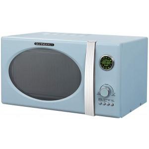 SCHNEIDER MW823G LB Mikrowelle Retro / 800 W / Grill 1000 W / 23 L / Hellblau