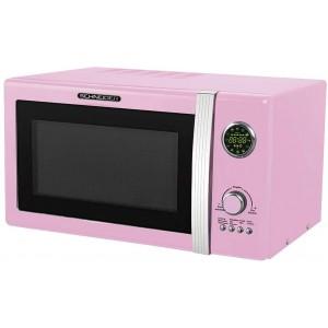 SCHNEIDER MW823G SP Mikrowelle Retro / 800 W / Grill 1000 W / 23 L / Pink